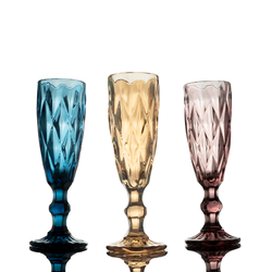 Glassware - Colour Crystal Champagne Flutes