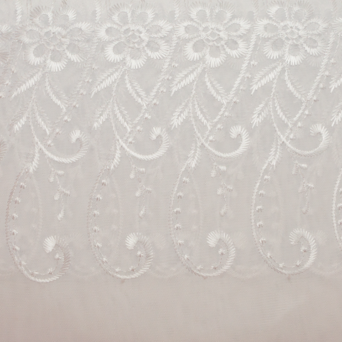 Ready Made Lace Sheer - Embroidered Voile - 5m