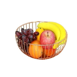 Fruit Basket - Metal Gold