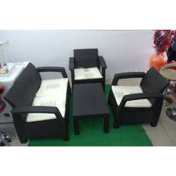 Outdoor Furniture Patio Set - 4 Seater + Table