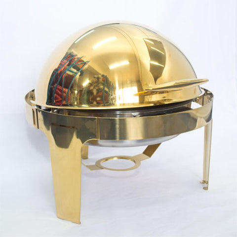 Chafing Dish Roll top Gold - No Glass