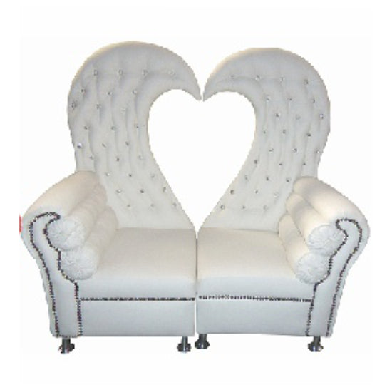 Love Heart Chaise Sofa Cover Big Elasticity Flexible Couch