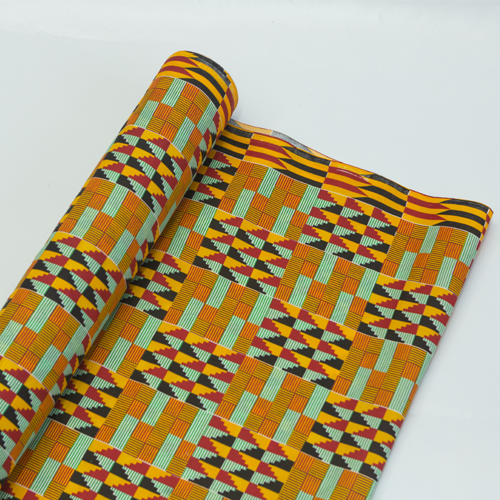 Printed Polycotton - Zigzag Design