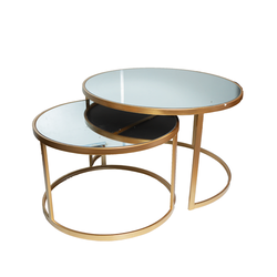 Table - Double Mirror Server / Coffee Table