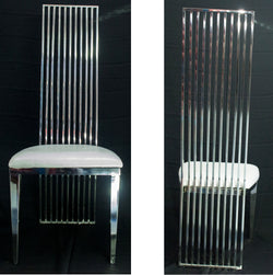 Dining Chairs - Silver Finish