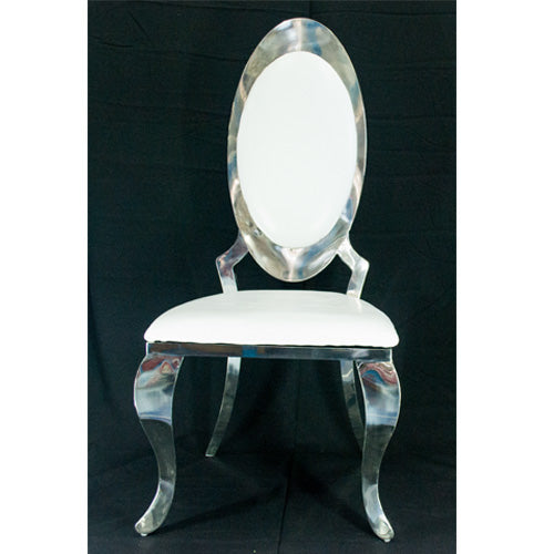 Chair   Vivian Oval Back Dining Chair   Silver