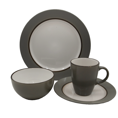 Dinner Sets - 16pc Thick Stripe