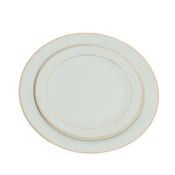Dinner Plates - Gold Strip Round Design