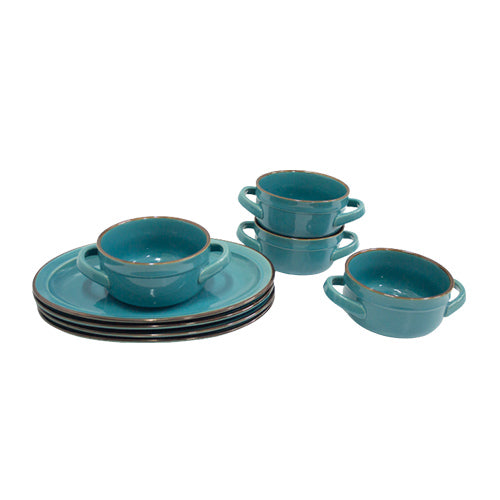 Dinner Set - 8pc Bowl & Plate Set