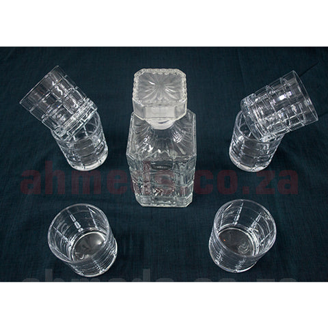 Decanter Set -  7pc Glass with Lid