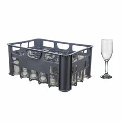 Champagne Flute - Regent 24's including Plastic Crate Grey