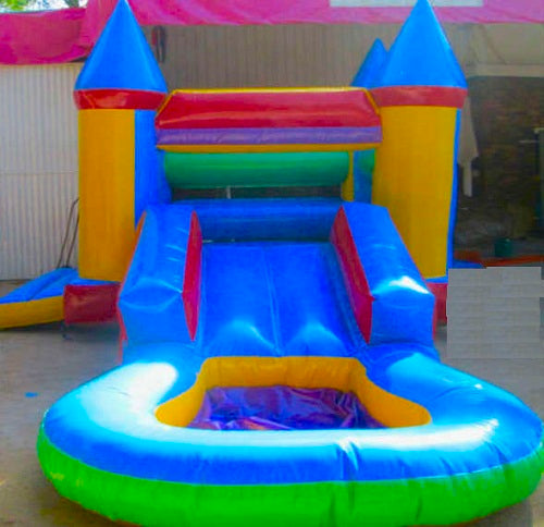 Jumping Castle - Slide with Pillars