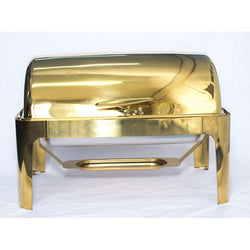 Chafing Dish - Roll Top Rectangle Gold