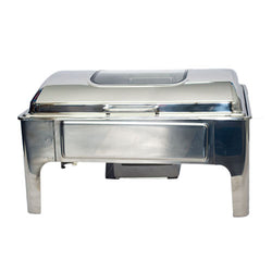 Chafing Dish - Rectangular Flat Top With Glass