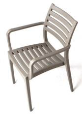 Rimini Arm Chair - Slatted Cafe Chair