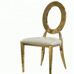 Round Back Chair - Gold