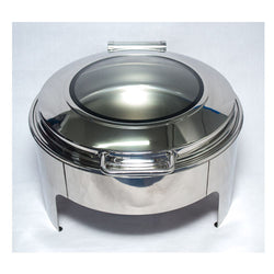 Chafing Dish - Round Flat top with glass
