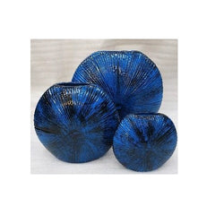 Vase  - Sea Urchin Round 3pc Set Metalic