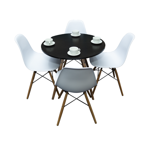 Dining Set - Round Table + 4 Chairs