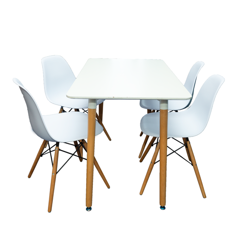 Dining Set - Rectangle Table + 4 Chairs