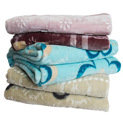 Blankets - Sparkle Embossed Mink Queen