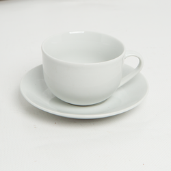 Crockery - Cup and Saucer Bone China 6 Pack