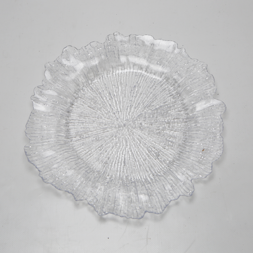 Underplates - Clear Plastic Leaf Design
