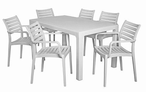 Verona Cafe Table - 6 Seater