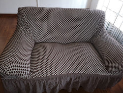 Sofa Covers - Stretch Spotted Design