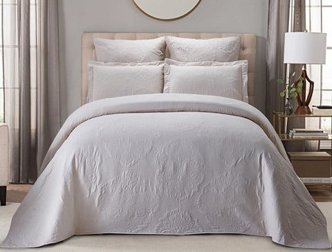 Bedding Set - 5pc Shirley Bed Spread Set Queen