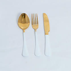 Cutlery Sets - Flat Handle - White
