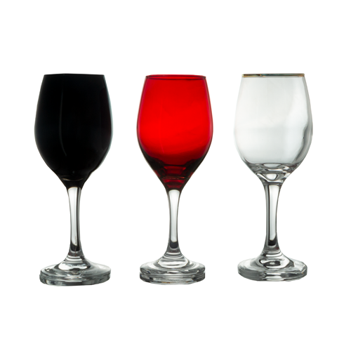 Glassware - Wine Glass - Colours - 6's