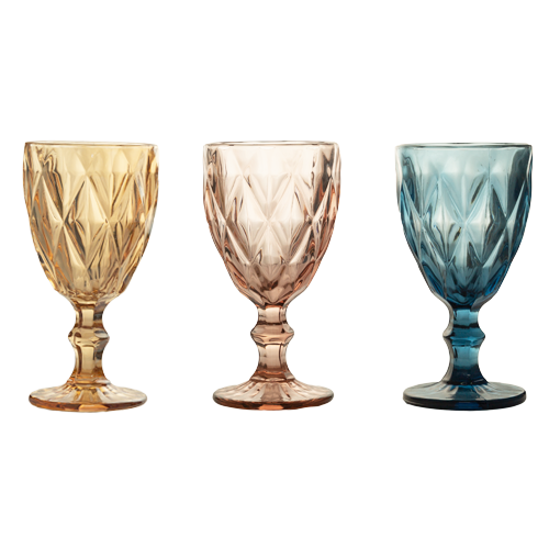 Glassware - Coloured Crystal Wine Glass - 6's