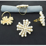 Napkin Ring - Pearls Star
