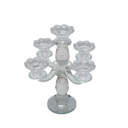 Candle Holder - Glass - 5 Spoke design 2