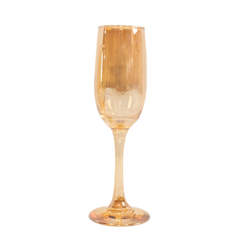 Champagne Flute  - Gold - 6's