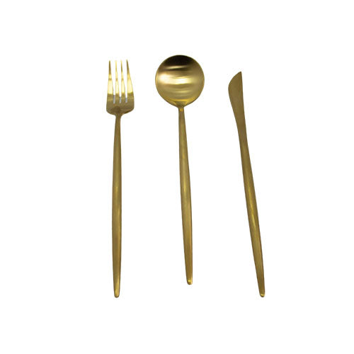 Modern Cutlery Sets - 3pc Set Plain gold