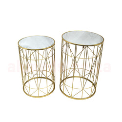 Server Tables - Geometric Side Table Set Round