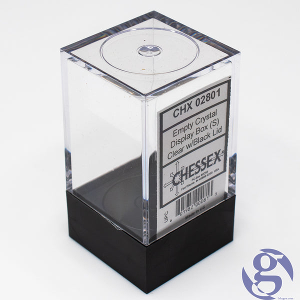 Chessex: CHX 02801 - Empty Crystal Display Box (S) - Clear w/Black Lid