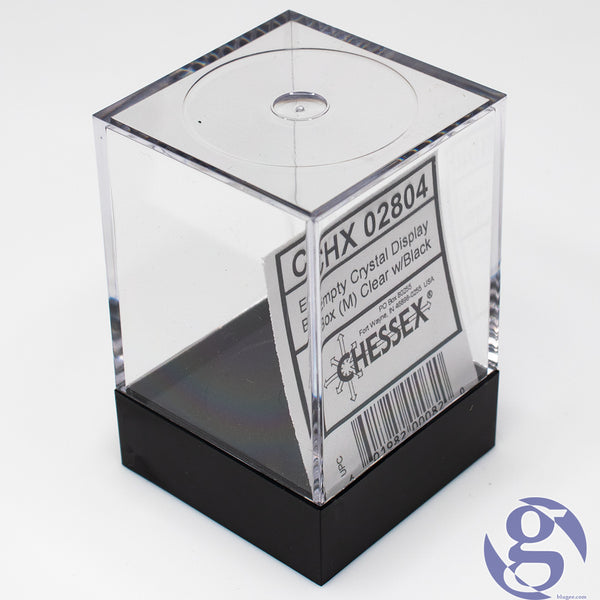 Chessex: CHX 02804 - Empty Crystal Display Box (M) - Clear w/Black Lid