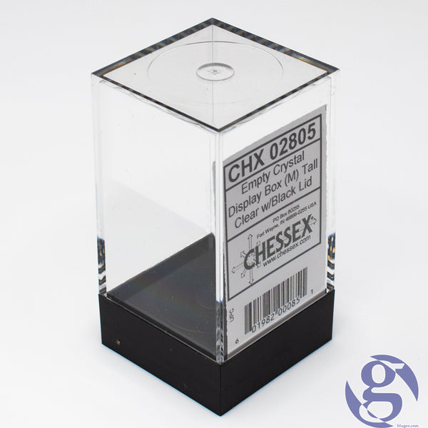 Chessex: CHX 02805 - Empty Crystal Display Box (M) Tall - Clear w/Black Lid