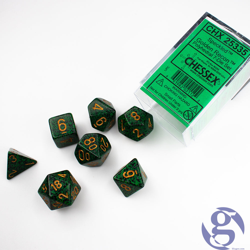 Chessex: CHX 25335 - Speckled Golden Recon Polyhedral 7-Die Set