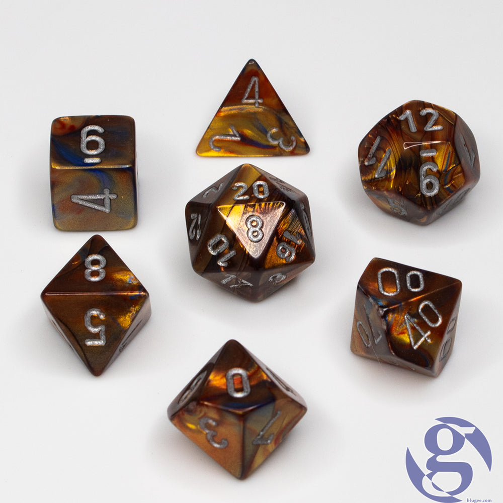 Chessex: CHX 27493 - Lustrous Gold/silver Polyhedral 7-Die Set