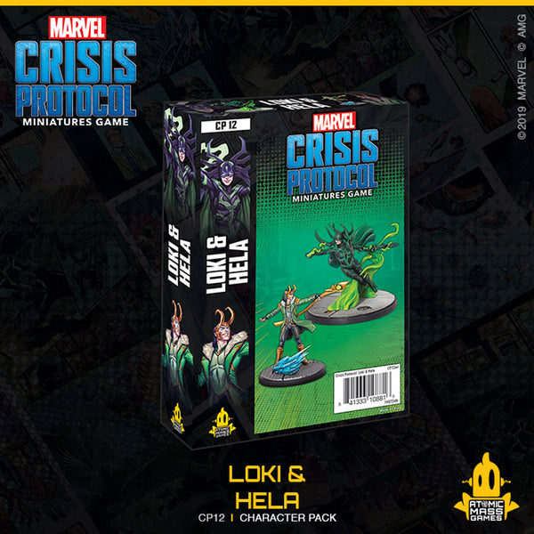 Marvel Crisis Protocol: CP12 - LOKI & HELA Plastic Miniature by Atomic Mass Games