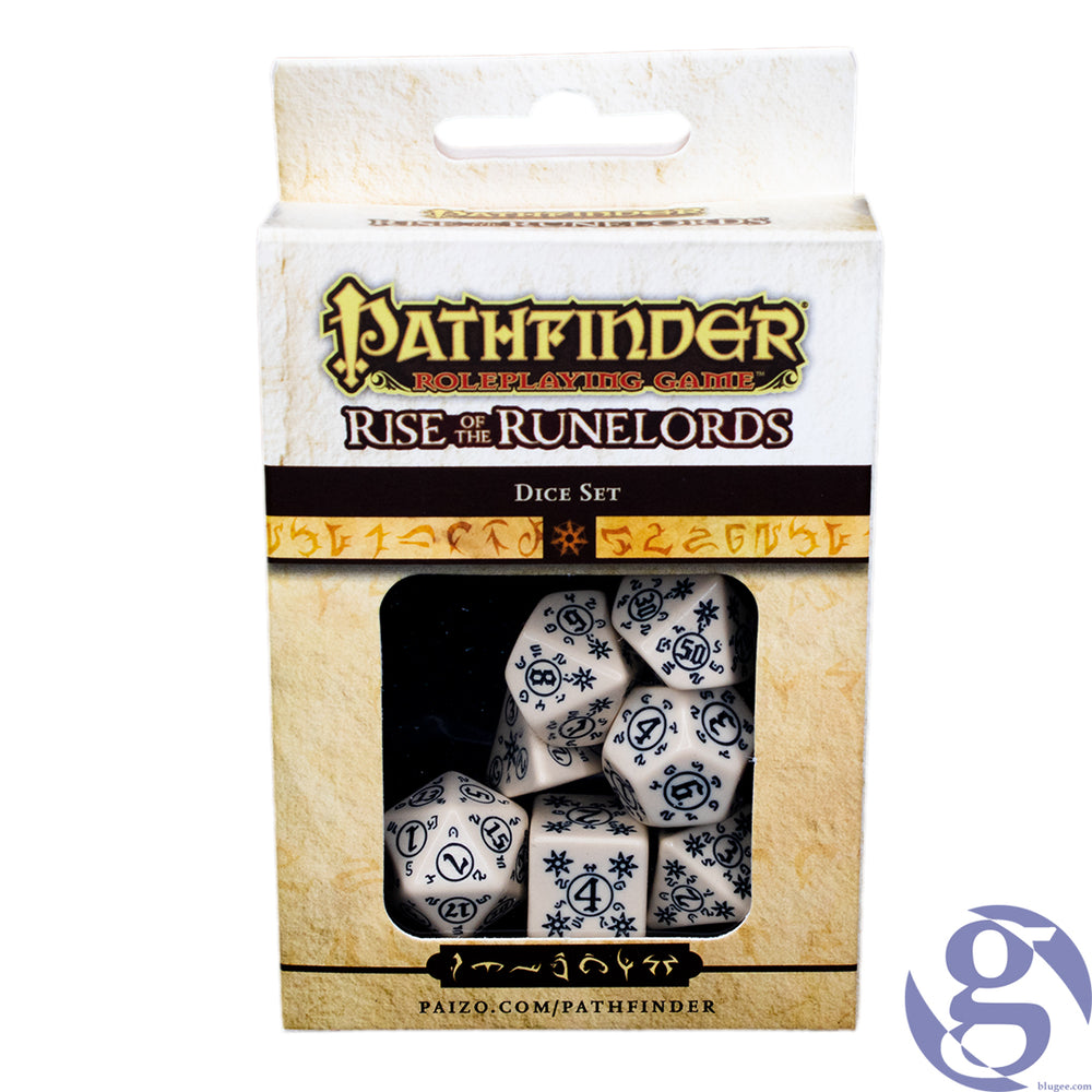 Q Workshop: QWS SPAT 18 - Pathfinder Rise of the Runelords Polyhedral 7-Dice Set