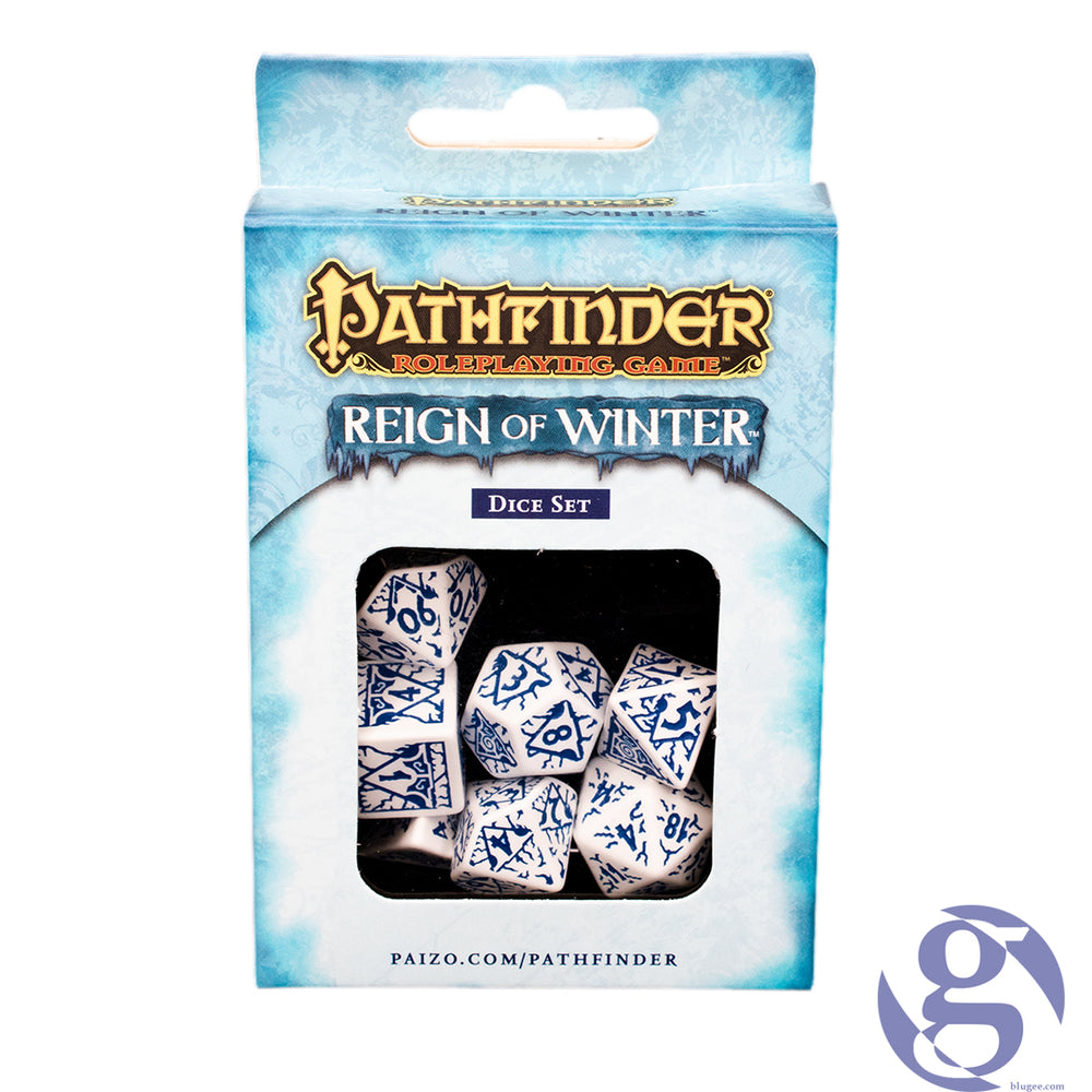 Q Workshop: QWS SPAT 28 - Pathfinder Reign of Winter Polyhedral 7-Dice Set