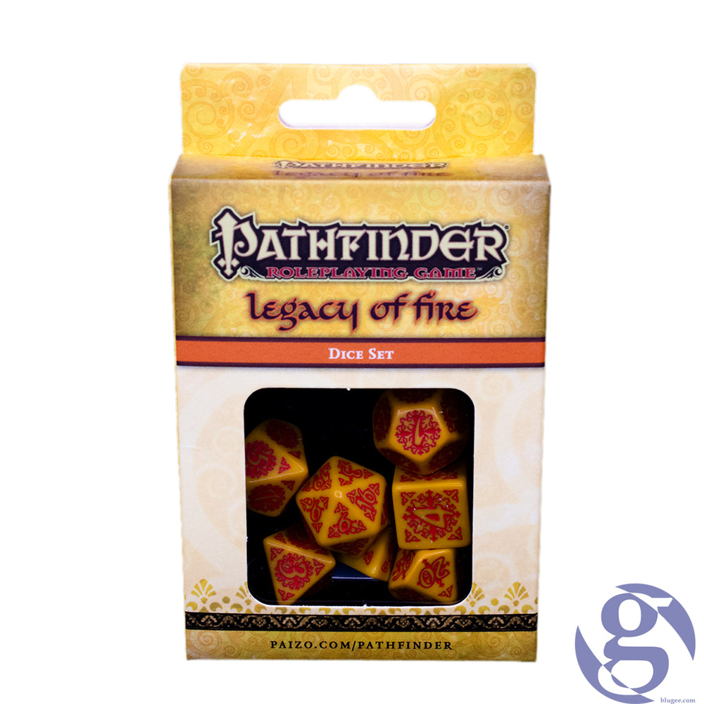 Q Workshop: QWS SPAT 31 - Pathfinder Legacy of Fire Polyhedral 7-Dice Set