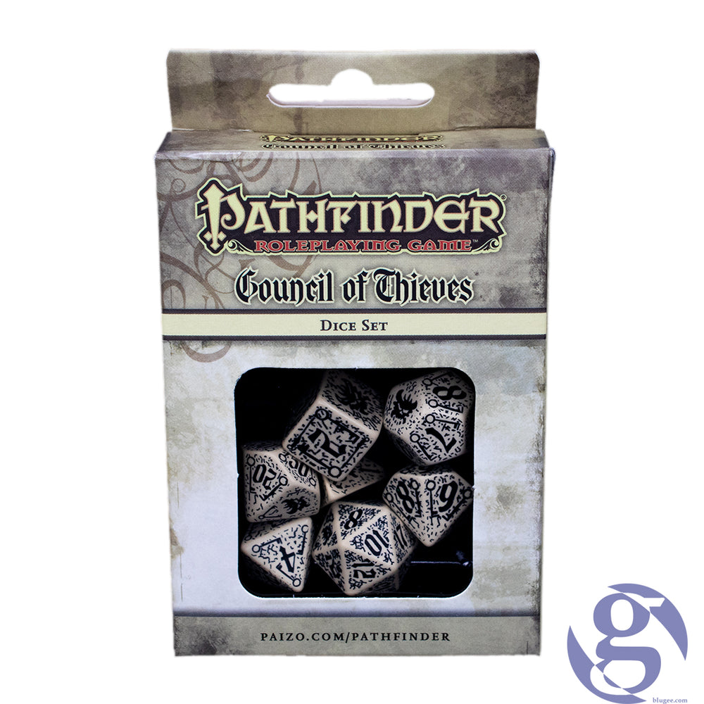 Q Workshop: QWS SPAT 65 - Pathfinder Council of Thieves Polyhedral 7-Dice Set