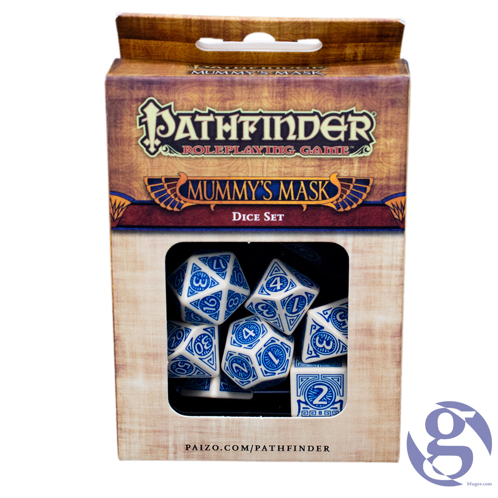 Q Workshop: QWS SPAT 71 - Pathfinder Mummy's Mask Polyhedral 7-Dice Set