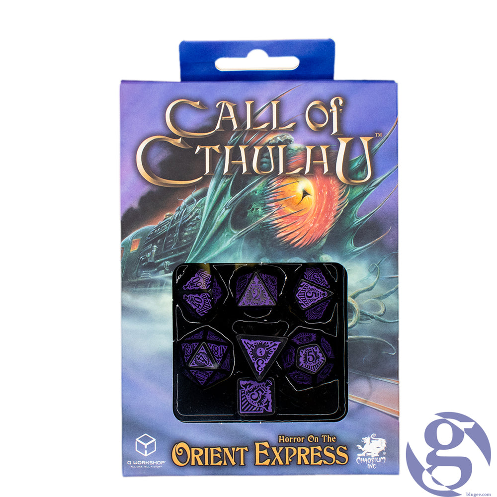 Q Workshop: SCTO51 - Call of Cthulhu Horror on the Orient Express Polyhedral 7-Dice Set